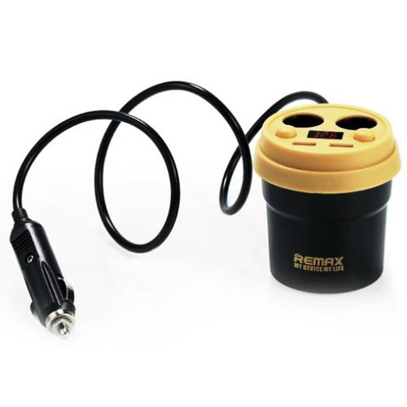 Автомобильное зарядное устройство Remax Demitasse CR-2XP 2*AutoPlug 2*USB (Black-Yellow)