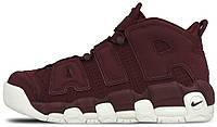 Женские кроссовки Nike Air More Uptempo Bordeaux Найк Аптемпо бордовые