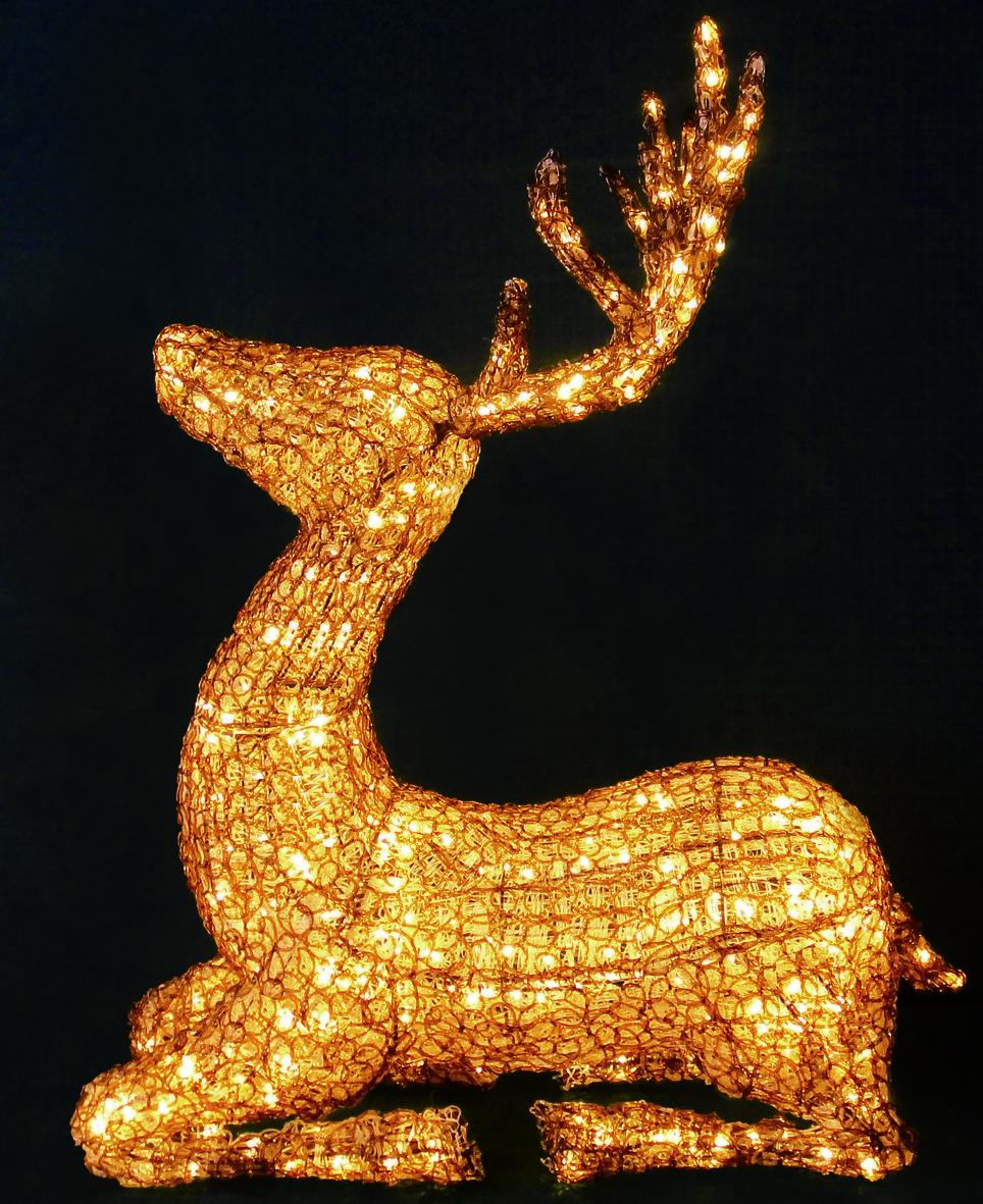 Олень новогодний светодиодный 1.03м