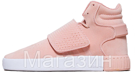 Женские кроссовки Adidas Tubular Invader Strap Pink Адидас Табулар розовые