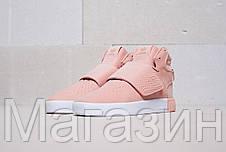 Женские кроссовки Adidas Tubular Invader Strap Pink Адидас Табулар розовые, фото 2