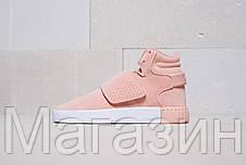 Женские кроссовки Adidas Tubular Invader Strap Pink Адидас Табулар розовые, фото 3