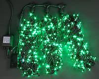 Светодиодная гирлянда для украшения деревьев ЛУЧ-3 зеленый (Каучук)