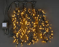 Светодиодная гирлянда для украшения деревьев ЛУЧ-3 желтый (Каучук)