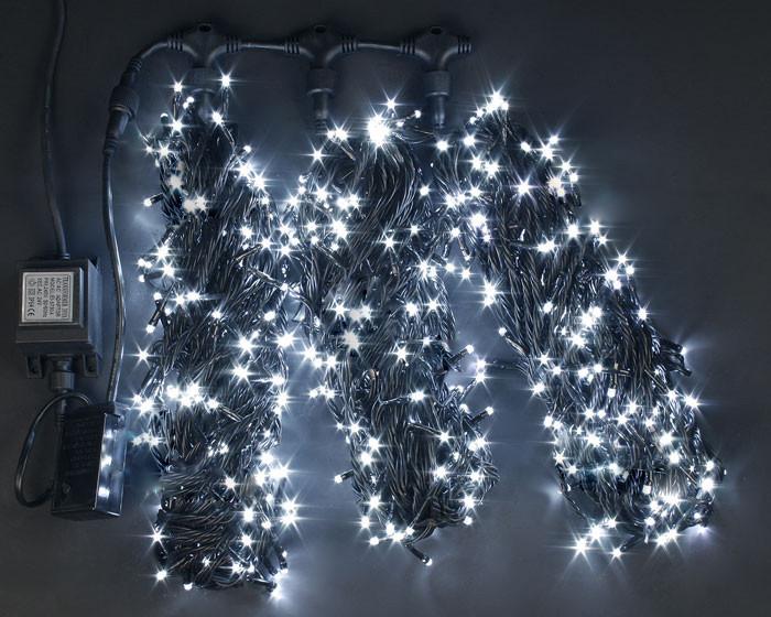 Светодиодная гирлянда для украшения деревьев ЛУЧ-3 холодно-белый (Каучук)