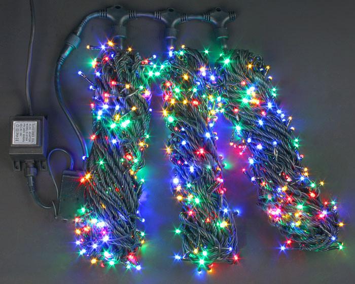 Светодиодная гирлянда для украшения деревьев ЛУЧ-3 мультицвет (Каучук)