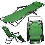Кресло шезлонг для отдыха на даче Welfull green, фото 2