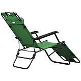 Кресло шезлонг для отдыха на даче Welfull green, фото 3