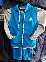 Спортивный костюм детский тройка. голубой