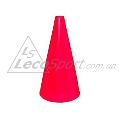 Конус для разметки полей и трасс 24 см флуоресцентный красный