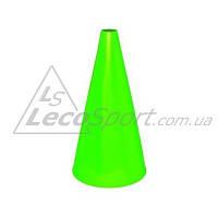 Конус для разметки полей и трасс 24 см флуоресцентный зеленый