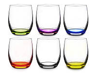 Набор стаканов для сока Crystalex Rainbow club 300 мл из 6 шт, 024-104