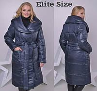 Женское пальто из плащевки без капюшона