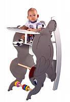 Стульчик для кормления с качалкой и столиком - Слоник