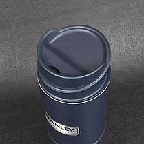 Термокружка синій 0,47 L оригінал CLASSIC ONE HAND Stanley (Стенлі) 10-01394-014, фото 3