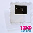 """Акриловые рамки для магнитов на холодильник. Акриловые магниты """"Багет"""" 65х65 мм, фото 57х57 мм, фото 2"""