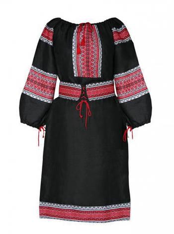 Вышитое платье,лен, фото 2