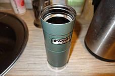 Термочашку зелена 0,47 L CLASSIC ONE HAND Stanley (Стенлі) 10-01394-013, фото 3