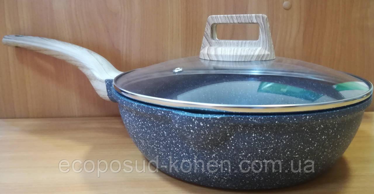 Сковорода Pure Stone Deep  висока з литого алюмінію d=24 KOHEN
