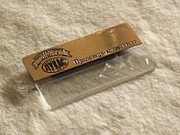 Бейджик металлический с окошком для вкладыша (латунь), 65х35 мм (Крепление: Булавка;  Именной: Все бейджи одинаковые;)