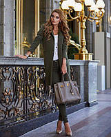 Очаровательное пальто из кашемира с застежкой на одну пуговку, фото 1