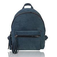 Рюкзак кожаный изумрудный нубук М, фото 1