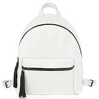 Рюкзак кожаный белый флатар L, фото 1