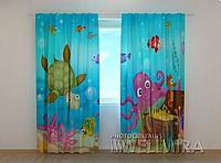 """Фото штора """"Морской пейзаж"""" 250 х 260 см"""