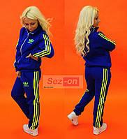 Костюм спортивный женский теплый Adidas Синий