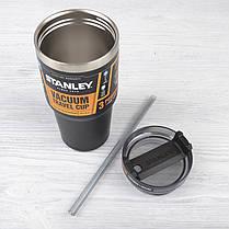 Кружка в машину чёрная матовая Adventure VACUUM QUENCHER 0,59L Stanley (Стенли) (10-02662-004), фото 3