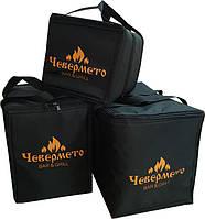 Термосумки для доставки еды с шелктотрафаретной печатью