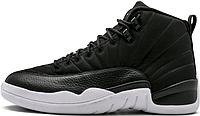 Баскетбольные кроссовки Air Jordan 12 RETRO XII BLACK/WHITE NYLON