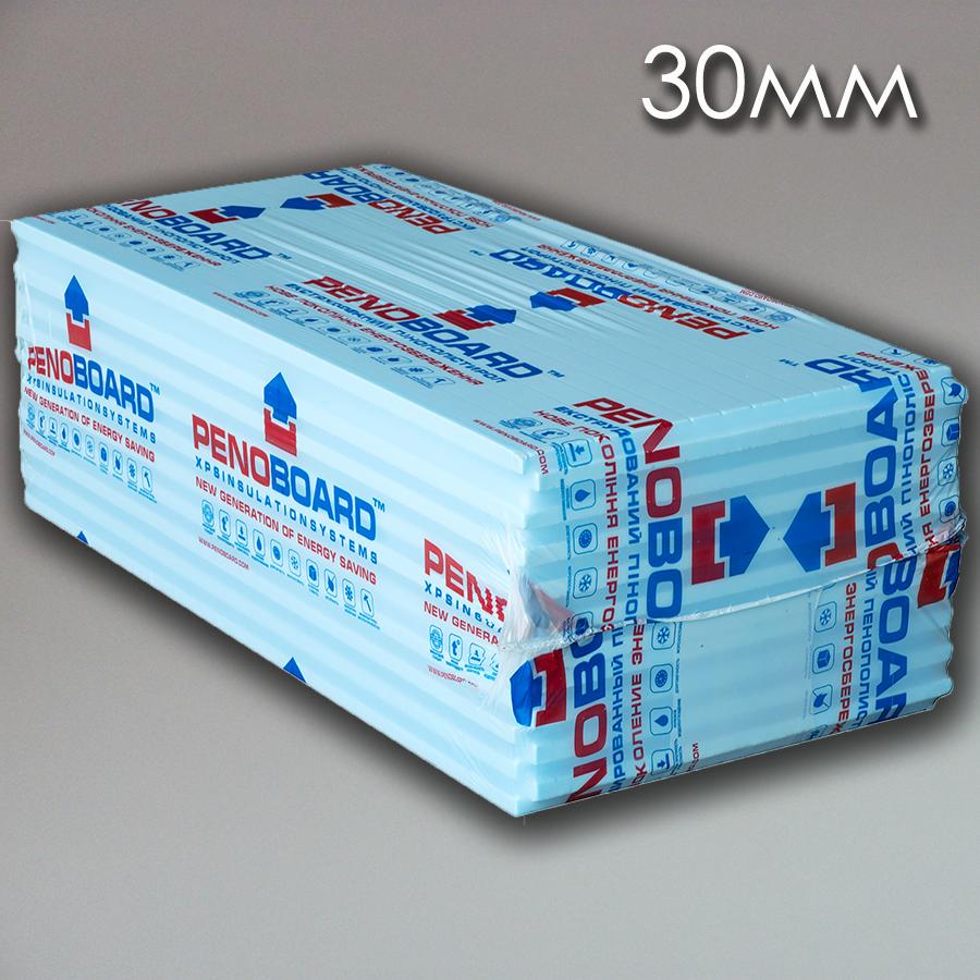 Экструдированый пенополистирол XPS PENOBOARD, 30мм