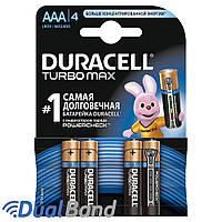 Батарейки Duracell AAA (LR03) MX2400 Turbo 4шт., фото 1