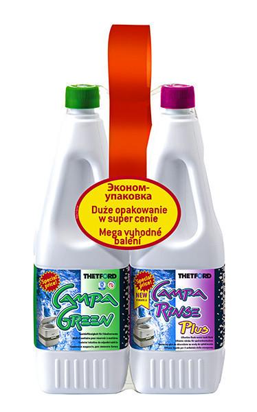 Жидкость д/биотуалета Duopack Campa Green и Campa Rinse Plus, 1.5 л