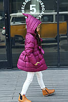 Демисезонное пальто для девочки.  Размеры 90-130.