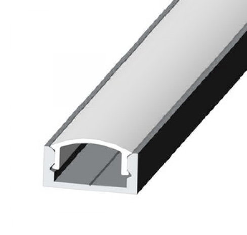 Алюминиевый Профиль ЛП7 16мм для LED ленты серебро (за 1м)