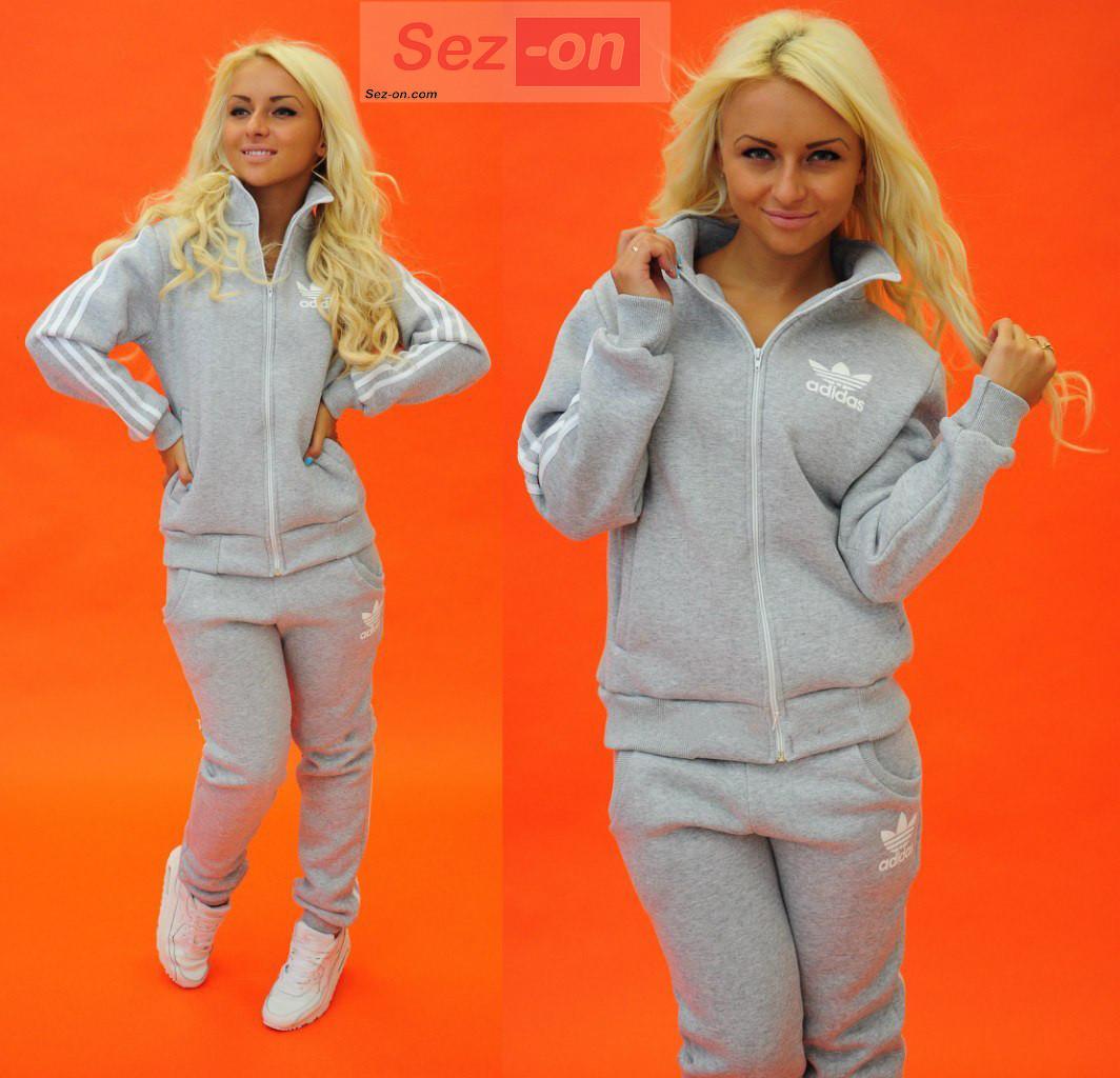 Костюм спортивный женский теплый Adidas Серый - Sez On - Ваш сезон успешных  покупок. в 7133bd217af
