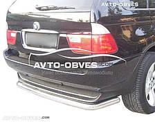 Защита заднего бампера BMW X5 E53 труба прямая