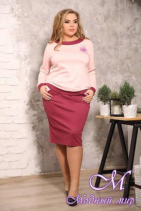 Женский офисный юбочный костюм батал (р. 48-90) арт. Идеал, фото 2