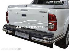 Защита заднего бампера Toyota Hilux, углы двойные (Tamsan)