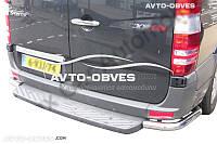 Защита заднего бампера VW Crafter 2011-2016, углы одинарные (под подножку заднюю) (Tamsan)