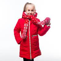 """Зимнее очень красивое пальто для девочки """"Шарфик"""""""