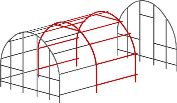 Модуль-вставка 2 м, Greenhouse
