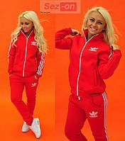 Костюм спортивный женский теплый Adidas Красный