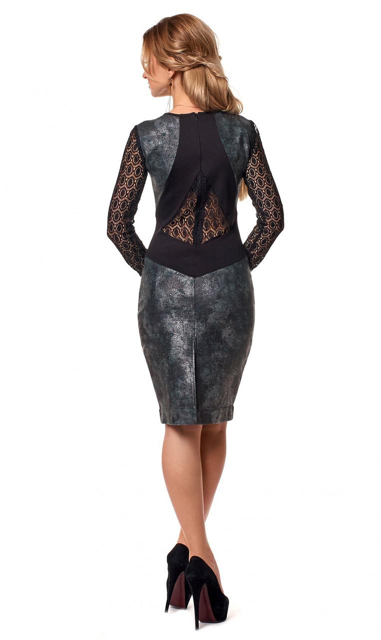 618bd53016336b6 Женское вечернее платье с гипюром серого цвета. Размеры 42-48. Модель 1048,  цена 620 грн., купить в Одессе — Prom.ua (ID#655251641)