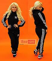 Костюм спортивный женский теплый Adidas Черный