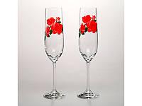 Набор бокалов для шампанского Crystalex Розы 2 шт., 674-129