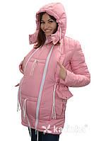 Зимняя куртка для беременных и слингоношения 4в1, розовая, фото 1