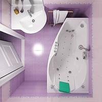 Гидромассажная ванна с врезным смесителем Triton Бриз, 1500х950х670 мм
